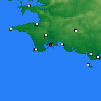 Nearby Forecast Locations - Bénodet - Χάρτης