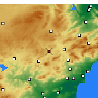 Nearby Forecast Locations - Yecla - Χάρτης