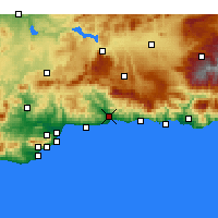 Nearby Forecast Locations - Μπέλεθ-Μάλαγα - Χάρτης