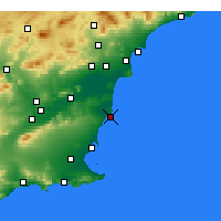 Nearby Forecast Locations - Torrevieja - Χάρτης
