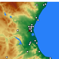 Nearby Forecast Locations - Torrent - Χάρτης