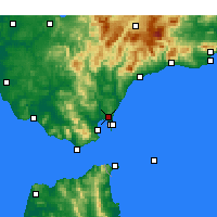 Nearby Forecast Locations - San Roque - Χάρτης
