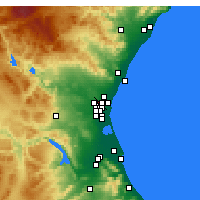 Nearby Forecast Locations - Paterna - Χάρτης