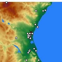 Nearby Forecast Locations - Moncada - Χάρτης