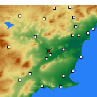 Nearby Forecast Locations - Molina de Segura - Χάρτης