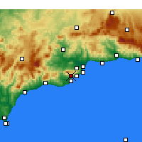 Nearby Forecast Locations - Mijas - Χάρτης