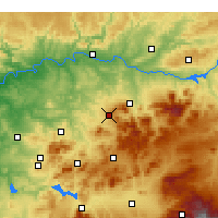 Nearby Forecast Locations - Martos - Χάρτης
