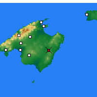 Nearby Forecast Locations - Manacor - Χάρτης