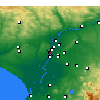 Nearby Forecast Locations - Mairena del Aljarafe - Χάρτης