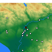 Nearby Forecast Locations - La Rinconada - Χάρτης
