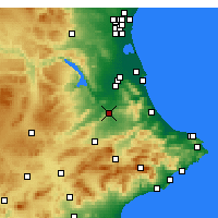 Nearby Forecast Locations - Xàtiva - Χάρτης