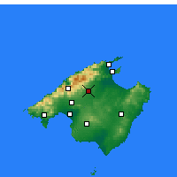 Nearby Forecast Locations - Inca - Χάρτης