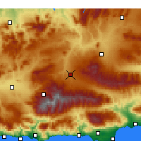 Nearby Forecast Locations - Guadix - Χάρτης