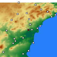 Nearby Forecast Locations - Crevillent - Χάρτης