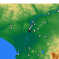 Nearby Forecast Locations - Coria del Río - Χάρτης