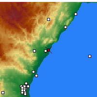 Nearby Forecast Locations - Benicàssim - Χάρτης