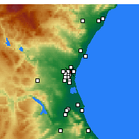 Nearby Forecast Locations - Burjassot - Χάρτης