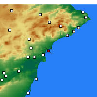 Nearby Forecast Locations - Αλικάντε - Χάρτης