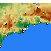 Nearby Forecast Locations - Alhaurín de la Torre - Χάρτης