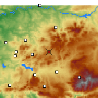 Nearby Forecast Locations - Alcalá la Real - Χάρτης