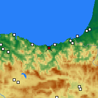 Nearby Forecast Locations - Zarautz - Χάρτης
