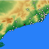 Nearby Forecast Locations - El Vendrell - Χάρτης