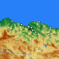 Nearby Forecast Locations - Μπαρακάλντο - Χάρτης
