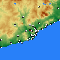 Nearby Forecast Locations - Rubi - Χάρτης