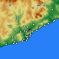 Nearby Forecast Locations - Ripollet - Χάρτης