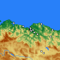 Nearby Forecast Locations - Portugalete - Χάρτης