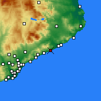 Nearby Forecast Locations - Pineda de Mar - Χάρτης