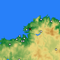 Nearby Forecast Locations - Narón - Χάρτης
