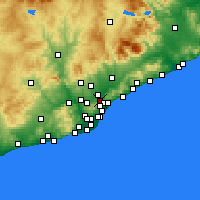 Nearby Forecast Locations - Montcada i Reixac - Χάρτης