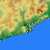 Nearby Forecast Locations - Martorell - Χάρτης