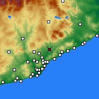 Nearby Forecast Locations - Granollers - Χάρτης