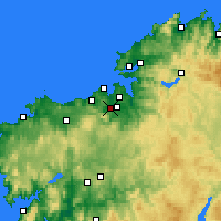Nearby Forecast Locations - Culleredo - Χάρτης