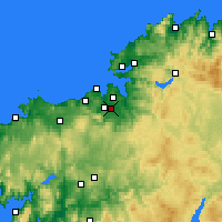 Nearby Forecast Locations - Cambre - Χάρτης