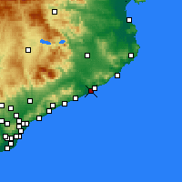 Nearby Forecast Locations - Blanes - Χάρτης