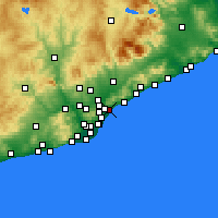 Nearby Forecast Locations - Μπαδαλόνα - Χάρτης