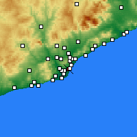 Nearby Forecast Locations - Eixample - Χάρτης