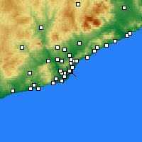Nearby Forecast Locations - Ciutat Vella - Χάρτης