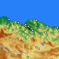 Nearby Forecast Locations - Santutxu - Χάρτης
