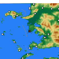 Nearby Forecast Locations - Didim - Χάρτης
