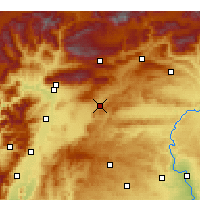 Nearby Forecast Locations - Pazarcık - Χάρτης