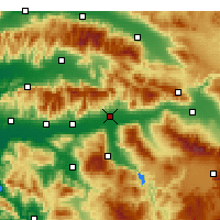 Nearby Forecast Locations - Nazilli - Χάρτης