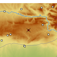 Nearby Forecast Locations - Midyat - Χάρτης