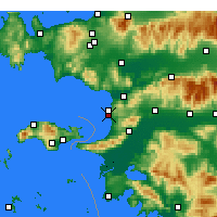 Nearby Forecast Locations - Κουσάντασι - Χάρτης