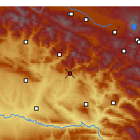 Nearby Forecast Locations - Kozluk - Χάρτης