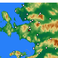 Nearby Forecast Locations - Menderes - Χάρτης