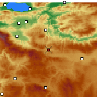 Nearby Forecast Locations - Bozüyük - Χάρτης